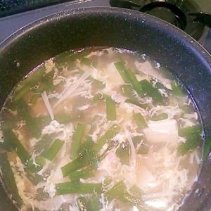 ニラ玉春雨スープ☆