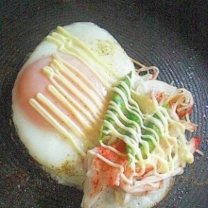 ❤ 朝食に! アスパラ&カニカマの目玉焼き ❤
