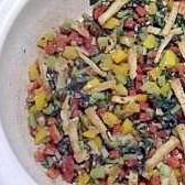 大根葉のカラフル炒め煮