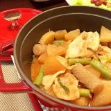 Staubココットで豚バラと大根の味噌煮込み