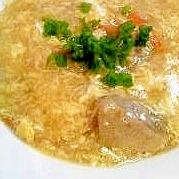 鶏と卵の生姜スープ