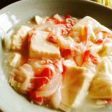 豆腐のカニカマあんかけ♩ごま油風味