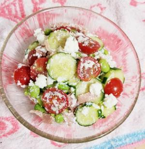 トマトと枝豆のリコッタサラダ