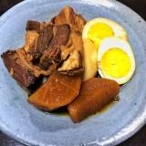 スロークッカーで豚の角煮+大根&ゆでたまご