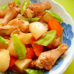 鶏手羽元とカブ人参の煮物
