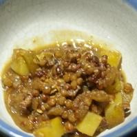 たかきびとジャガイモの味噌煮
