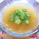 冷製優しく刺激的♪かれーに❤オクラと冬瓜のスープ