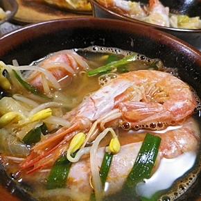 赤エビと野菜の塩麹スープ