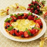 クリスマスリースピザ