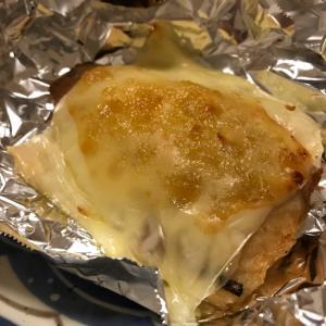 鯖の柚子味噌チーズ焼き