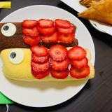 簡単!まるごとバナナで鯉のぼりケーキ♪