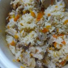 鍋で炊く中華風おこわ