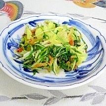 水菜とキャベツのシンプル炒め~♪