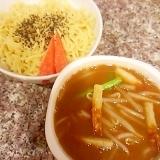 もやしと小松菜のごま油つけ麺