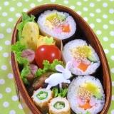 簡単☆キンパ風巻き寿司のお弁当♪