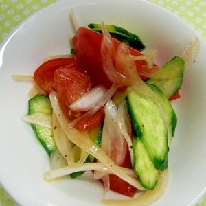 トマトと新玉ネギの和風サラダ