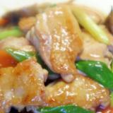 鶏とマイタケの中華オイスターソース煮込み