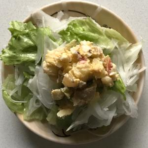 ポテトレタス大根新玉ねぎサラダ
