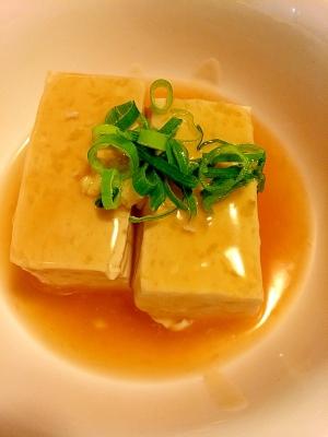 しょうがたっぷり☆あんかけ豆腐