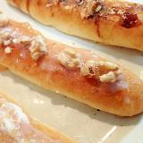 イチジクジャムと胡桃のスティックパン