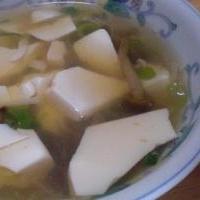 鍋材料のリメイク  「つぶれ豆腐汁」 ♪♪