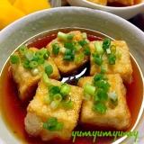 揚げ出し豆腐です☆絹ごし豆腐で口当たりふるるん♪♪