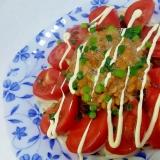 納豆ともずくとトマトの冷やしうどん++