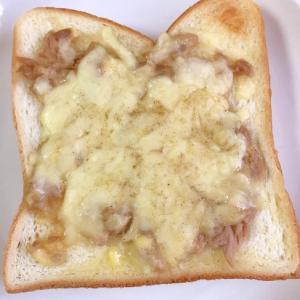 ツナマヨからしのチーズトースト