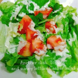 あと一品☆トマトとサニーレタスのシーザーサラダ
