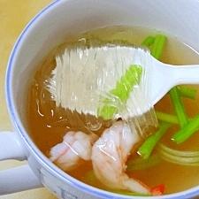 濃厚エビだし☆ 「春雨スープ」