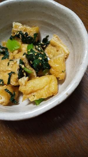 油あげと小松菜の簡単炒め