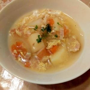鶏肉と野菜の卵スープ☆幼児食