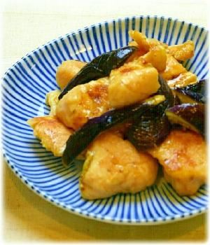 塩麹でしっとり♪鶏胸肉となすのポン酢炒め