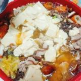 崩し豆腐の豚味噌鍋
