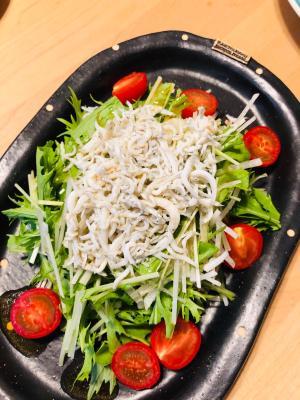 水菜と大根のしらすサラダ