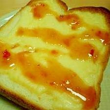 うまうまチーズトースト!スイートチリソースで*