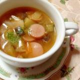 暑い時はレンジで♪野菜たっぷりスープ