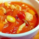 野菜と豆と鶏肉で☆ヘルシーミネストローネ♪