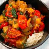 野菜たっぷり!夏野菜の彩り素麺