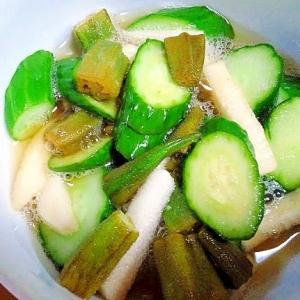「ねばねば野菜」を自家製浅漬けで!