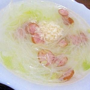 ヘルシー☆簡単!白菜と春雨のスープ♪