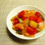 赤パプリカとズッキーニと玉ねぎの簡単ラタトゥイユ♪