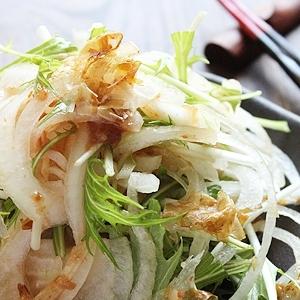 有機玉ねぎと有機梅肉のサラダ