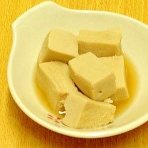 調味料2つだけ♪レンジで簡単高野豆腐煮☆