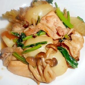 鶏肉とかぶとしめじの煮物