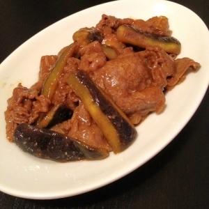 牛肉と茄子の山椒炒め