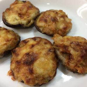 簡単★椎茸のネギ味噌チーズ焼き