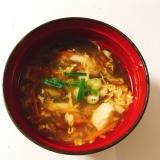 もずくの酸辣湯スープ(サンラータンスープ)