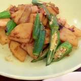 マコモダケとジャガイモの中華炒め