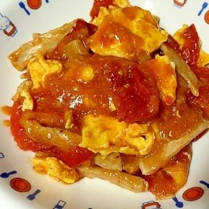 トマトと卵と豚肉の中華炒め☆香味ペーストを使って